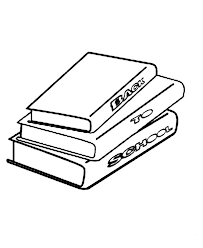 Stack Of Book Coloring Page Coloring Sun Books For Coloring