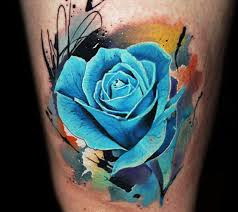 blue rose tattoo by lehel nyeste no 1027