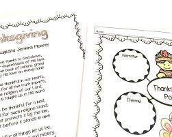 thanksgiving vocabulary words 10 thanksgiving literacy centers including critical thinking