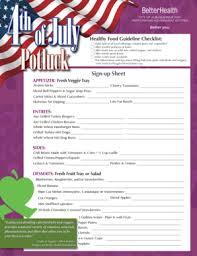 potluck sign up sheet forms and templates fillable u0026 printable