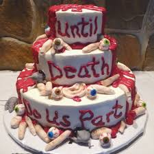 Halloween Fondant Cake by Halloween Wedding Cake With Body Parts Cakecentral Com
