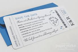 boarding pass save the date boarding pass save the dates with blue purple accents custom