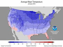 temperature map usa january national climate report january 2016 january temperature maps