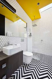 Bathroom Ceiling Paint by Architecture Black Yellow White Bathroom Simple And Colorful Home