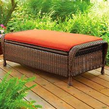 outdoor furniture storage ottoman patio deck yard footstool bench