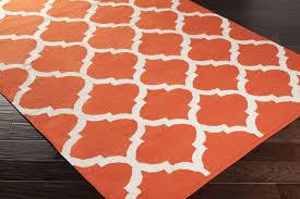 Orange Area Rug 8x10 Orange And White Area Rug Rug Designs