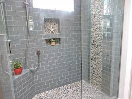 Bathroom Shower Floor Tile Ideas Bathroom Bali Pebble Tile Shower Floor With Accents For