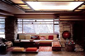 look of inside falling water frank lloyd wright interiors