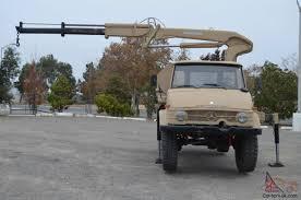 benz unimog 416 hiab crane truck