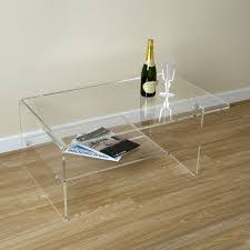 Acrylic Side Table Ikea Coffee Table Homcom 3pc Acrylic Perspex Nesting End Table Coffee