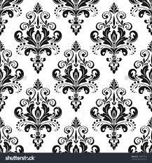 damask seamless floral pattern royal wallpaper flowers on a black