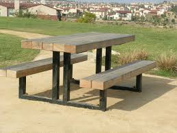 Metal Picnic Table Legs Outdoor Patio Tables Ideas - Picnic tables designs