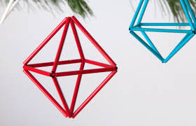 how to make diy colorful geometric ornaments ornaments