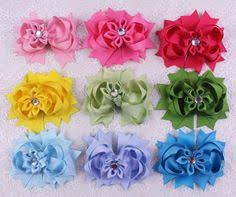 wholesale hairbows handmade 10 20 30pc 3 baby girl solid grosgrain ribbon hair bows