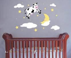 Nursery Rhyme Wall Decals Hey Diddle Diddle Nursery Rhymes Baby Nursery Wall Decals And