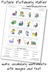 picture dictionary maker vocabulary homework exercises to print