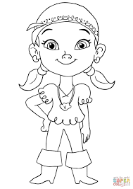 jake coloring pages izzy pirate coloring page free printable