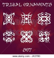 tribal ornaments and design elements set stock vector
