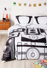 modcloth home decor the perfect bedding for a photographer camera themed duvet cover
