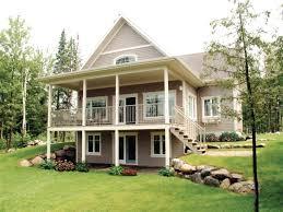 house plans with basements walkout basements adorable lake home plans with basement