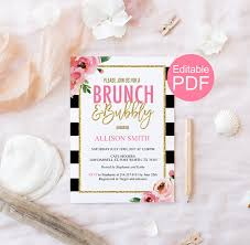 bridal brunch invitations template brunch and bubbly invitation template kate bridal shower