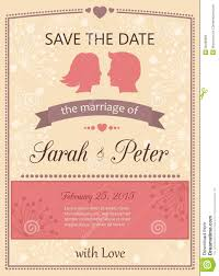 Marriage Invitation Card Templates Free Download Save The Date Wedding Invitation Card Royalty Free Stock Photo