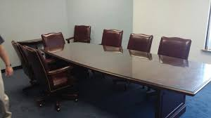 Conference Table With Chairs Mahogany Wood Conference Table And 6 Chairs Shoprecycled