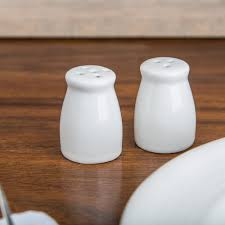 american metalcraft pisp2 miniature porcelain bellied salt and
