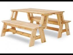 picnic table converts to bench convertible picnic table and bench ideas youtube
