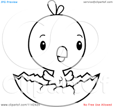cute animal clipart black and white