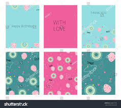 collection happy birthday love thank you stock vector 448614145