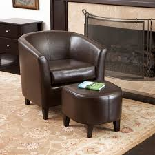 chairs with ottomans for living room petaluma brown leather club chair and ottoman modern living