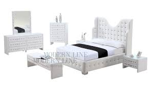 home design white tufted headboard with crystals window