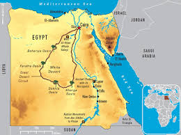 Africa Map Rivers Map Of Egypt River Nile Map Of Egypt And Nile River Northern