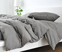 Duvet Cove Amazon Com Handmade Medium Grey Duvet Cover Grey Linen Duvet