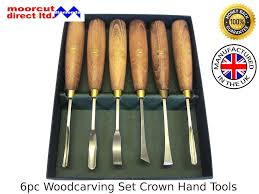 moorcut direct woodcarving set beginners 6pc crown hand tools