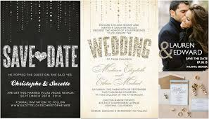 wedding invitations with photos 11 glitter wedding invitations