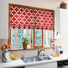 marvelous kitchen curtains pictures red patterned fold up curtain