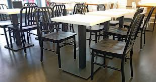 Heavy Steel Plate Restaurant Table Bases Squares Rectangles - Counter height dining table base