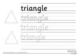 rectangle handwriting worksheet