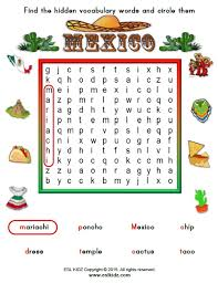 mexico worksheets activities games and worksheets for kids