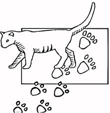 paw print coloring free printable coloring pages