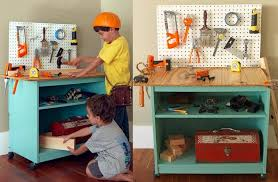 Toddler Tool Benches - 15 ways to upcycle old furniture into new creations for kids