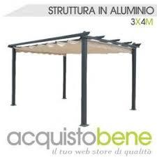 gazebo telo pergola gazebo in alluminio 300x400 cm con telo di copertura