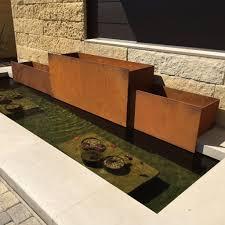 custom corten steel planters sarabi studio