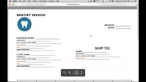 dentist invoice template free design invoice template