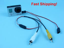 for gopro hero 3 camera mini usb to rca av out u0026 5v dc in cable