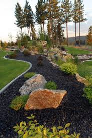 rocks in landscape design garden ideas
