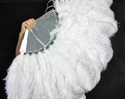 ostrich feather fans ostrich feather fan etsy