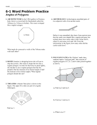 What Is The Interior Angle Of A Regular Decagon 6 1 Word Problems